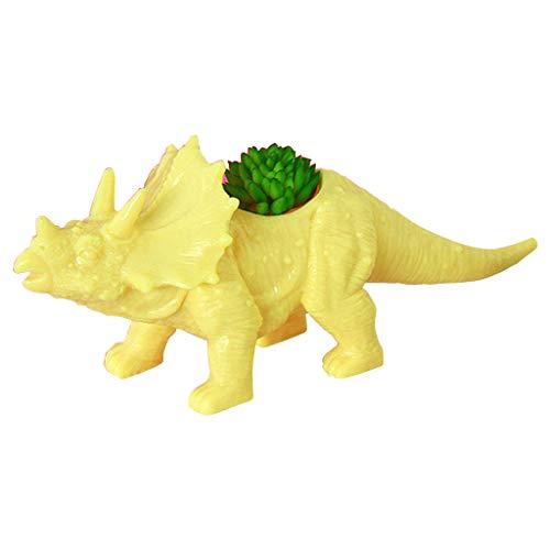 Abcidubxc - Vaso da fiori in plastica per dinosauri, vasi per carne, contenitori, vasi decorativi da tavolo