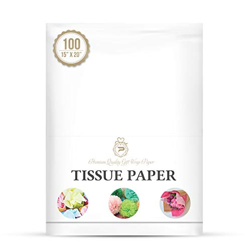 Basic Solid White Bulk Tissue Paper 15' x 20' - 100 Sheets