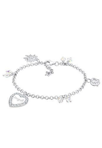 Elli Armband Bettelarmband Wiesn Swarovski® Kristalle Silber