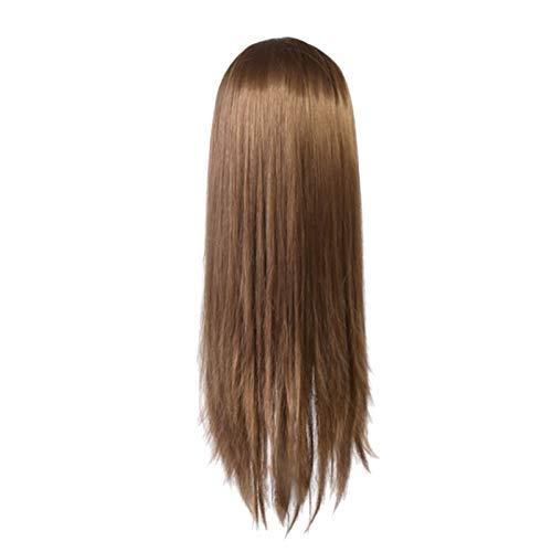 IREANJ 60 cm pelo muñeca estilo modelo de pelo largo práctica entrenamiento cabeza profesional salón pelo peinado cabeza WIG