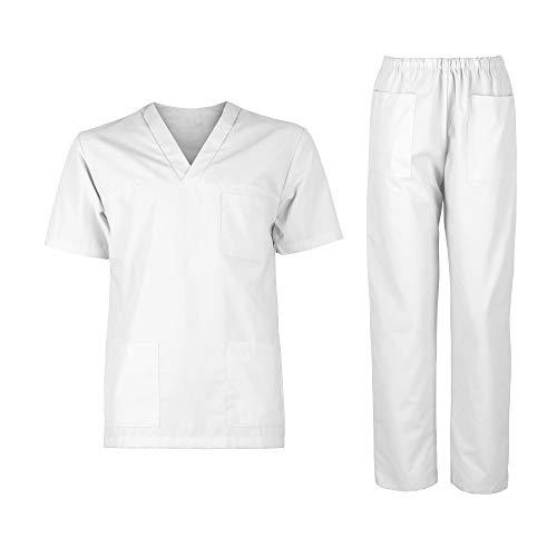 DINOZAVR M3 Unisex Sanitarios Médico Casaca Camisa Blusa Túnica y Pantalones Mujer Hombre