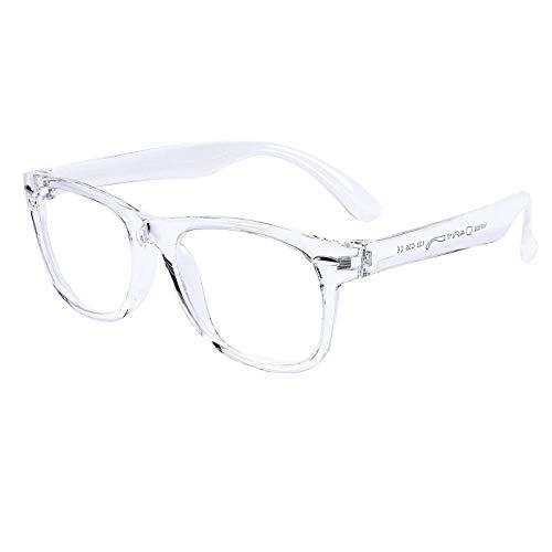 Kids Blue Light Blocking Glasses Silicone Flexible Frame Computer Gaming TV Phone Glasses for Girls Boys Age 3-10 (Transparent)