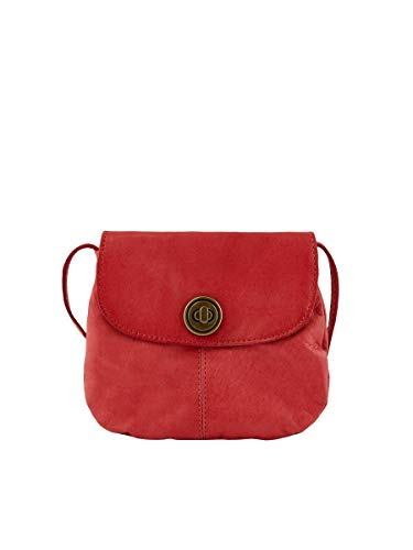 PIECES Damen PCTOTALLY ROYAL LEATHER PARTY BAG NOOS Umhängetasche, Baked Apple Detail:CP, ONE Size
