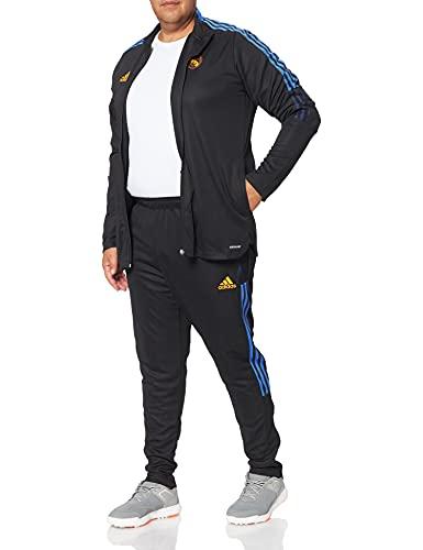 adidas Real TK Suit Tracksuit, Black, XL Mens