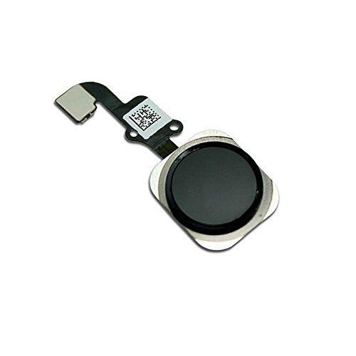 Mobofix Sostituzione Pulsante Home Tasto Home per iPhone 6/6 Plus Nero con Cavo Flex Incluso