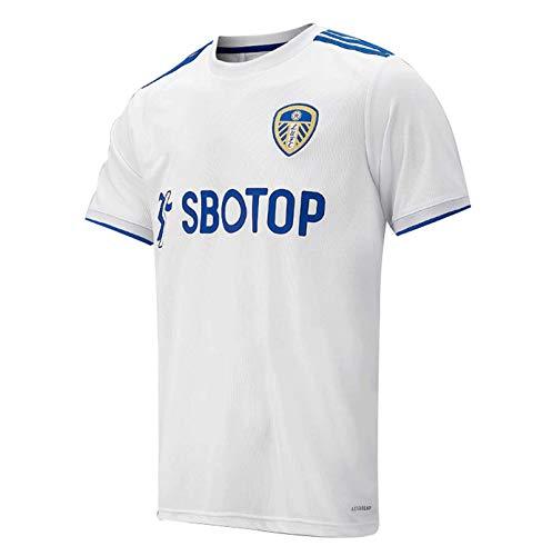 20/21-Sekunden-Leeds United Home Court, Auswärts Spiel Sport T-Shirt, Logo Kurzarm Jersey Fußball Geschenk White-XL