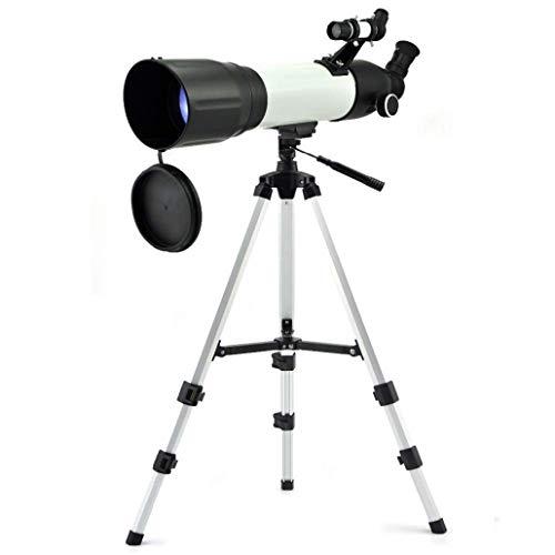 KZEN Astronomische Refraktor, HD-Large-Aperture Monocular-Teleskop Astronomie Einsteiger-Teleskop (Weiß)