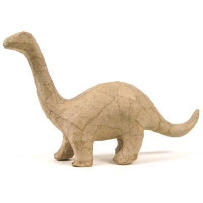 Pappmaché-Figur, Dino Brontosaurus, 17x10x5cm