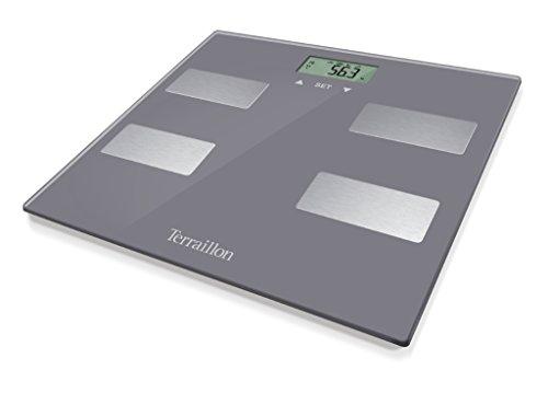 Terraillon 13925báscula electrónica Cristal marrón Helado 27x 27x 2,5cm