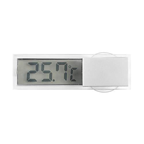 RoxTop Digitales LCD-Anzeige Auto Windschutzscheibe Temperaturmessgerät Saugwagen Thermometer Autorückspiegel Thermometer transparent