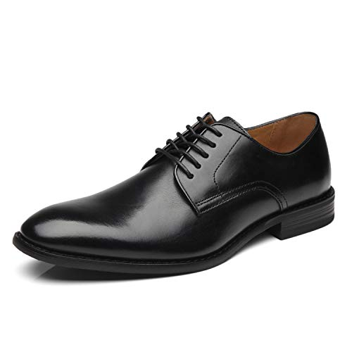 La Milano Men Dress Shoes Lace-up Leather Oxford Classic Modern Formal Business Comfortable Dress Shoes for Men, Cabey-3-black, 11