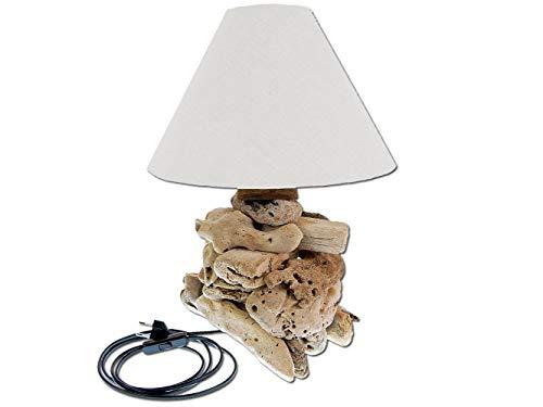 SEESTERN Treibholz Beistell Lampe Tischlampe Driftwood Holzdeko 40 cm hoch /1631
