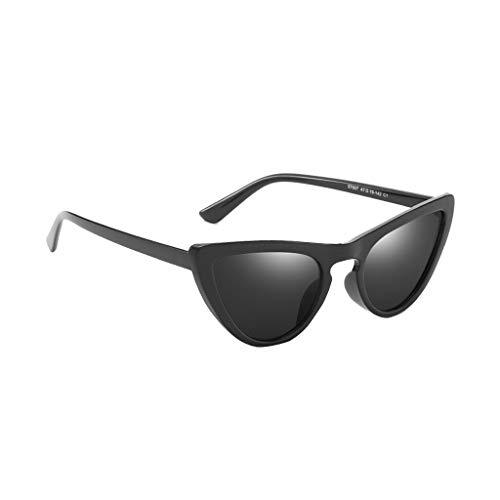 MERICAL Unisex Occhiali da sole Piccolo cornice retrò Cat Eye Vintage Occhiali da Sole