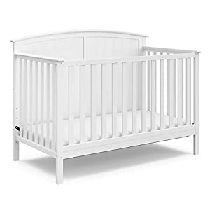 Storkcraft Steveston 4-in-1 Convertible Crib, White, Easily Converts to Toddler Bed Day Bed or Full Bed, Three Position Adjustable Height Mattress, Some Assembly Required (Mattress Not Included)