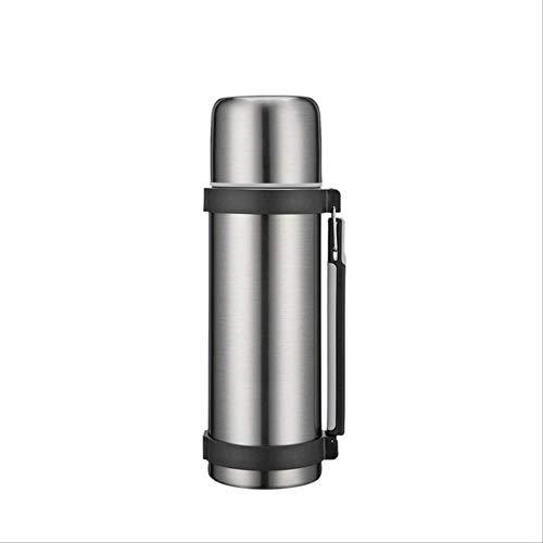 Thermosbeker GJDBBLY Thermos Met Handgreep Dubbelwandig Roestvrijstalen Thermosfles Koffie Thee Reisgeschenken Grote Capaciteit Thermosfles 9.7cm * 32cm Zilver