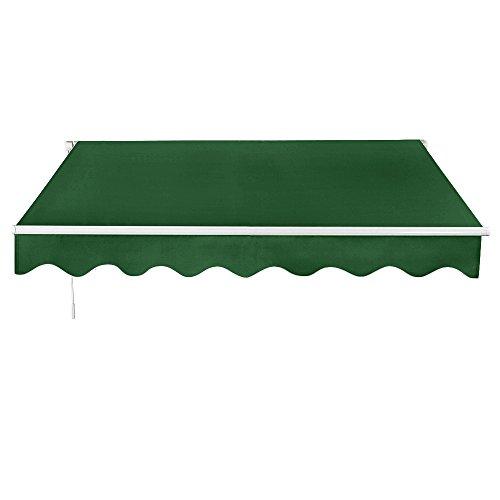 Dakea Markise Balkonmarkise Sonnenschutz mit Kurbel Anti-UV wasserfest und Wasserdicht 300 x 250cm Grün