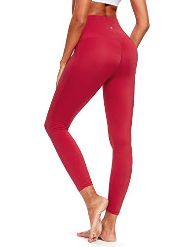 QUEENIEKE Pantaloni sportivi da allenamento a vita alta con leggings per yoga Colore Vino rosso Taglia L