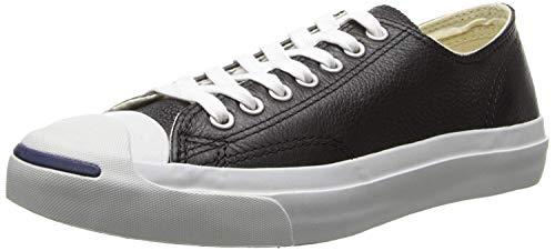 Converse Jack Purcell Schwarz / Weiss Leder Low Top Schuhe (1S962) (6UK / 40EU)
