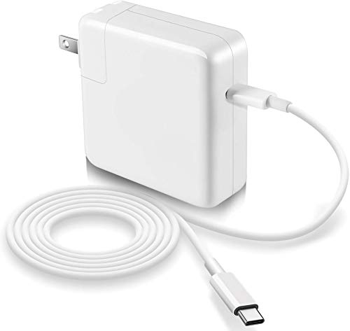 MacBook Pro Charger, 87W Replacement USB-C to Type-C Ac Power Adapter Charger Compatible with MacBook Pro 15 Inch 13 Inch MacBook Air 13 Inch 2018 (87w)