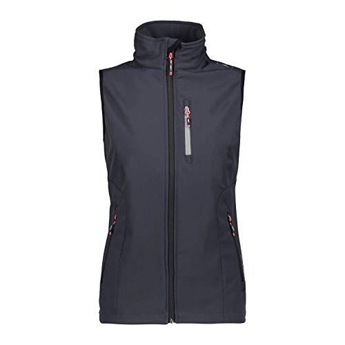 CMP – F.LLI Campagnolo Damen Softshell-Weste mit ClimaProtect Technologie Vest, Antracite-Corallo, D48