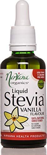 Nirvana Organics Liquid Stevia Vanilla Flavour Sweetener 50 ml