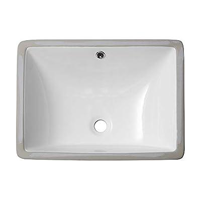Undermount Bathroom Sink Rectangular - Sarlai 20 '' Vessel Sink Rectrangle Undermount Bathroom Sink Pure White Porcelain Ceramic Lavatory Vanity Vessel Sink