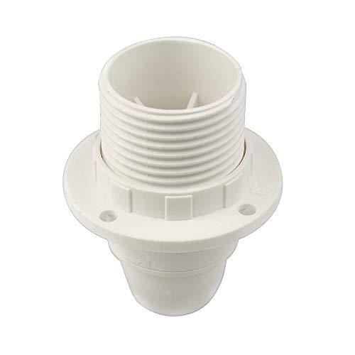 Arditi - Portalámparas termoplástico parcialmente roscado con casquillo E14 y anilla, blanco