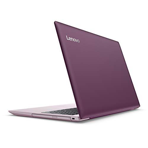 "2018 Lenovo ideapad 320 15.6"" LED-backlit Display Laptop, Intel Celeron N3350 Dual-Core Processor, 4GB RAM, 1TB HDD, DVD-RW, WIFI, Bluetooth, HDMI, Intel HD Graphics 500, Windows 10, Purple"