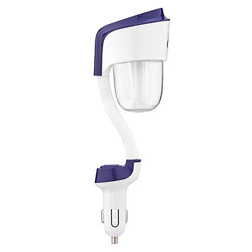VANKER Dual USB Purificateur d'air Nettoyeur Diffuseur d'huiles Essentielles Auto Voiture Humidificateur Voyage Bleu