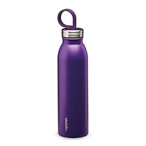 Aladdin Chilled Colour Thermavac Stainless Steel Water Bottle 0.55L Purple – Mehrwegwasserflasche - Doppelwandige Vakuumisolierung - Hält 9 Stunden Kalt - BPA-Frei - Auslaufsicher - Spülmaschinenfest
