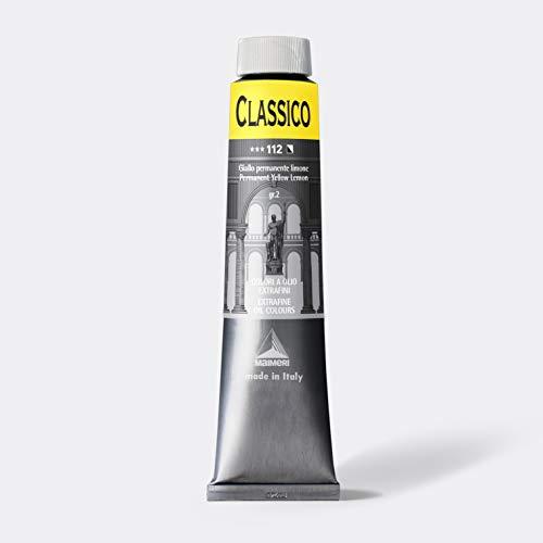 MAIMERI CLASSICO 200 ml, colore ad olio d'artista extra fine, colore giallo limone