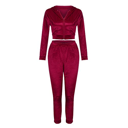Best Prices! Simayixx Womens Two Pieces Sweatsuit Pullover Gold Velvet Sports Zip Set Long Pants Spo...