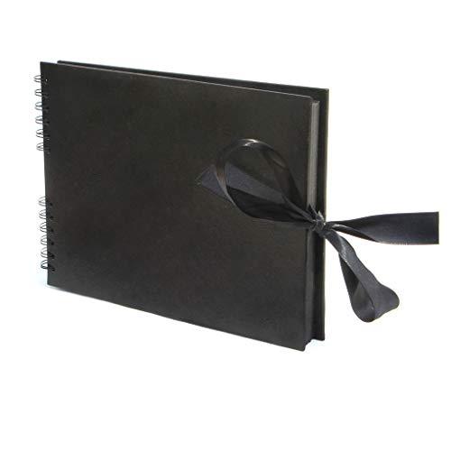zhibeisai A4 álbum de Fotos del álbum de Bricolaje Aniversario de Boda de la Familia de Libro Caja de Memoria Accesorios Scrapbooking graduación Regalo de cumpleaños Negro