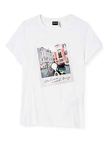 ONLY Damen ONLPEANUTS Life FIT S/S Photo Box JRS T-Shirt, Bright White, M