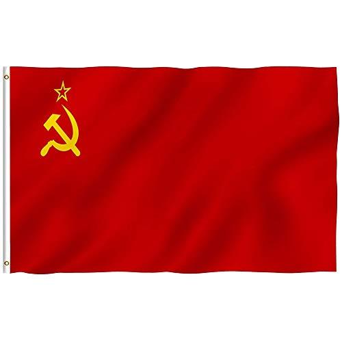 DIVISTAR UDSSR (1955-1991) Flagge, Polyester, 91 x 152 cm