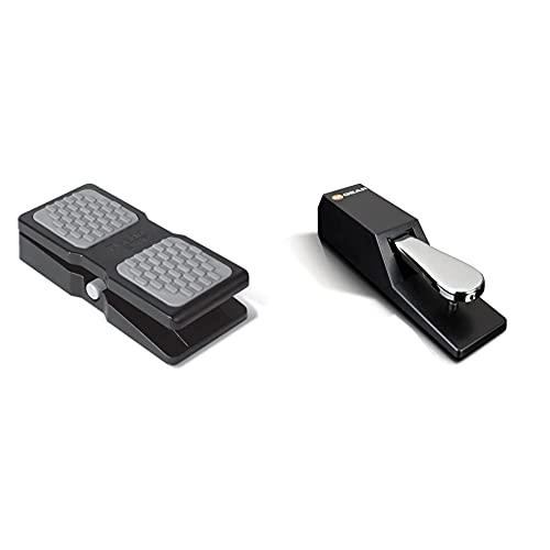 M-Audio Ex-P – Pedal De Expresión Universal Para Teclados, Teclados + Sp-2 Pedal De Sostenido Universal Con Tacto De Piano Para Teclados Electrónicos, Pianos Digitales, Controladores Midi