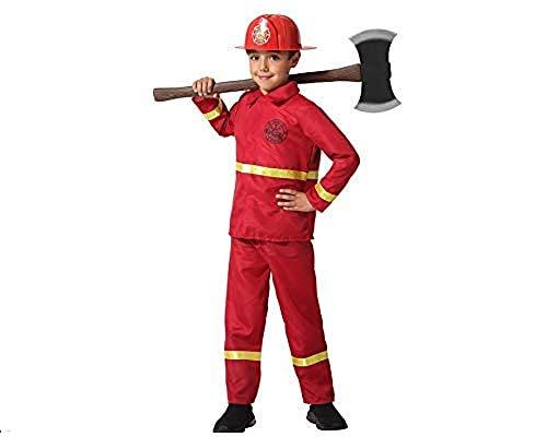 Atosa -67081 Costume Pompiere, Rosso, 3-4 anni (67081)