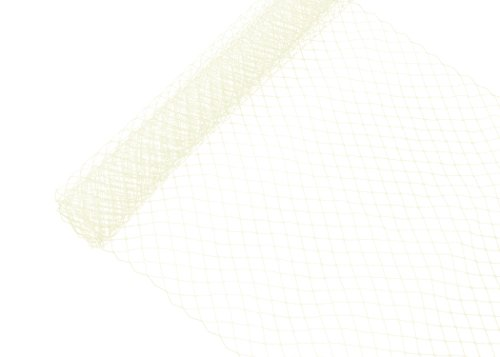 Russian Birdcage Veil Millinery Netting 10' Wide - Ivory - Sold by The Yard