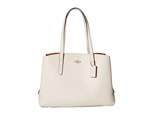 COACH Polished Pebble Leather Charlie 40 with Laptop Compartment Gd/Chalk One Size