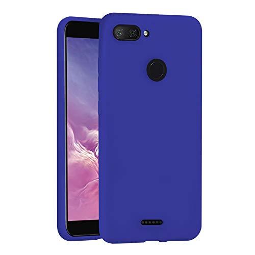TBOC Funda para Xiaomi Redmi 6 - Redmi 6A [5.45'] - Carcasa Rígida [Azulina] Silicona Líquida Premium [Tacto Suave] Forro Interior Microfibra [Protege la Cámara] Resistente Suciedad Arañazos