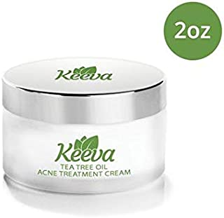 Acne Treatment Cream With Secret TEA TREE OIL Formula - Perfect For Acne Scar Removal, Fighting Breakouts, Spots, Cystic Acne - See Results in Days Without Dry Skin (2oz)