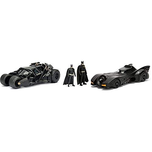 Jada Toys The Dark Knight  And 1989 Batmobile Set with Batman Action Figures