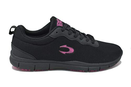 JOHN SMITH Raziel, Zapatillas de Running Mujer, Negro/Fucsia, 40 EU