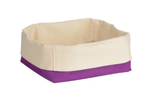 Premier Housewares 1901097 Panier à Pain en Polyester/Coton Crème/Violet