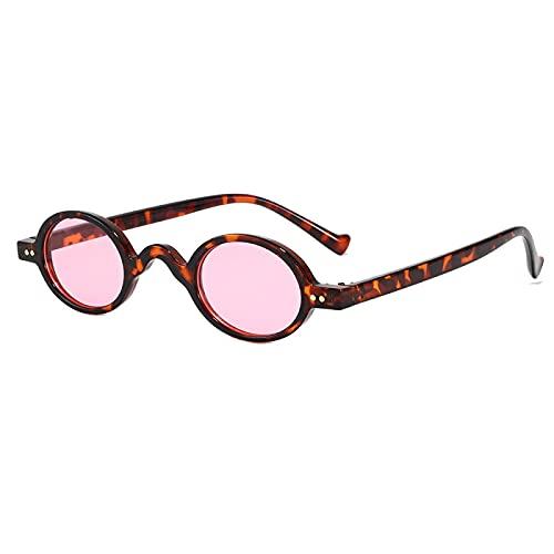 ShZyywrl Gafas De Sol De Moda Unisex Gafas De Sol Ovaladas Vintage para Mujer Y Hombre, Gafas De Sol Steampunk para Hombre, Monturas Pequeñas, Gafas Retro, Gaf
