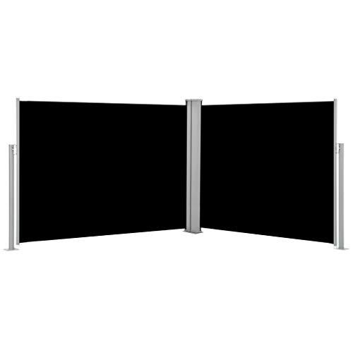 FAMIROSA Toldo Lateral retráctil Negro 140x1000 cm