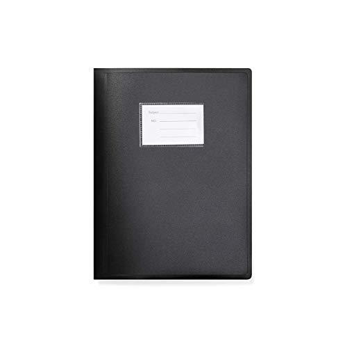Arpan - Carpeta con tapa flexible (tamaño A4, 104 bolsillos), color negro