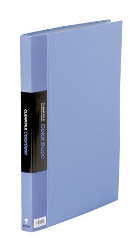 キングジム クリアーファイル カラーベース W B4S 142CW 青