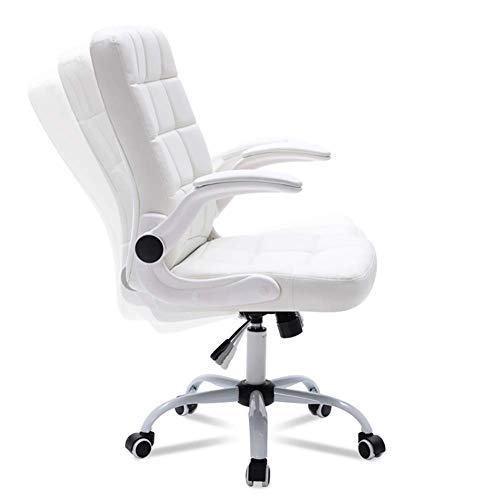 Home Komfortable Chefstuhl Swivel Stuhl Bürostuhl Computerstuhl PU Gürtel Rotierende Lift Armlehne Bürostuhl MISU