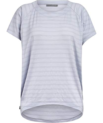 Icebreaker Elowen T-Shirt Col Ras-du-Cou Femme, Mercury Modèle L 2020 T-Shirt Manches Courtes